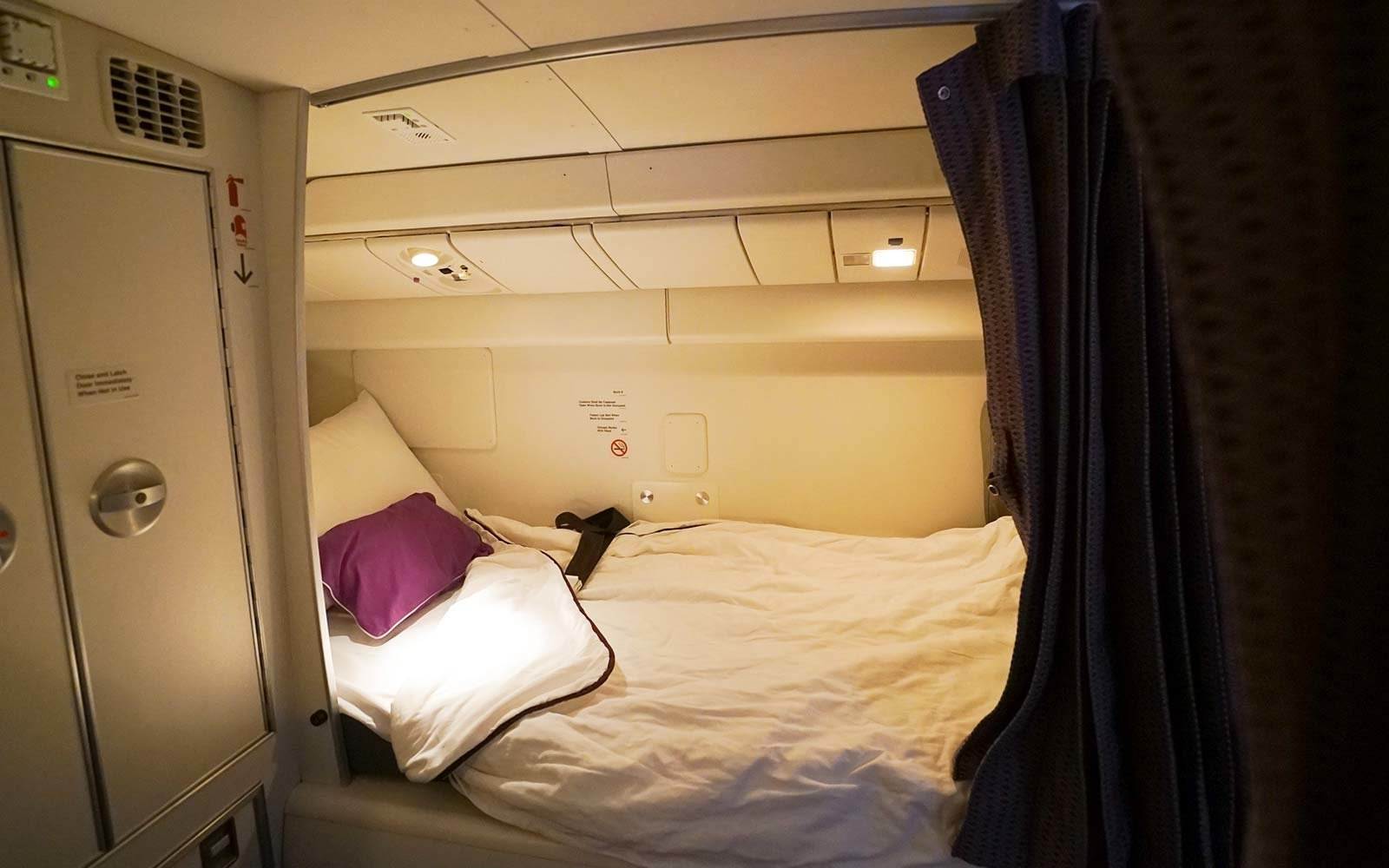 Virgin Australia Crew Flight Bed Sleep