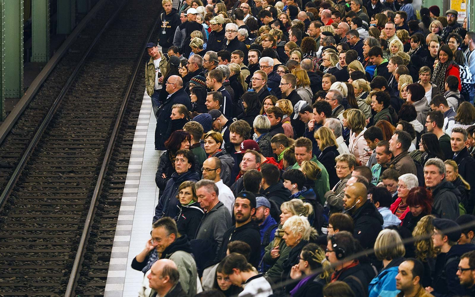 Personal space distance in different countries crowded subway metro platform