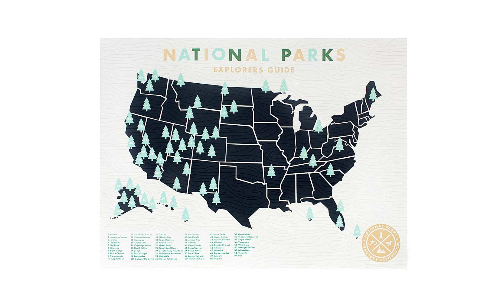 National Parks Explore Map