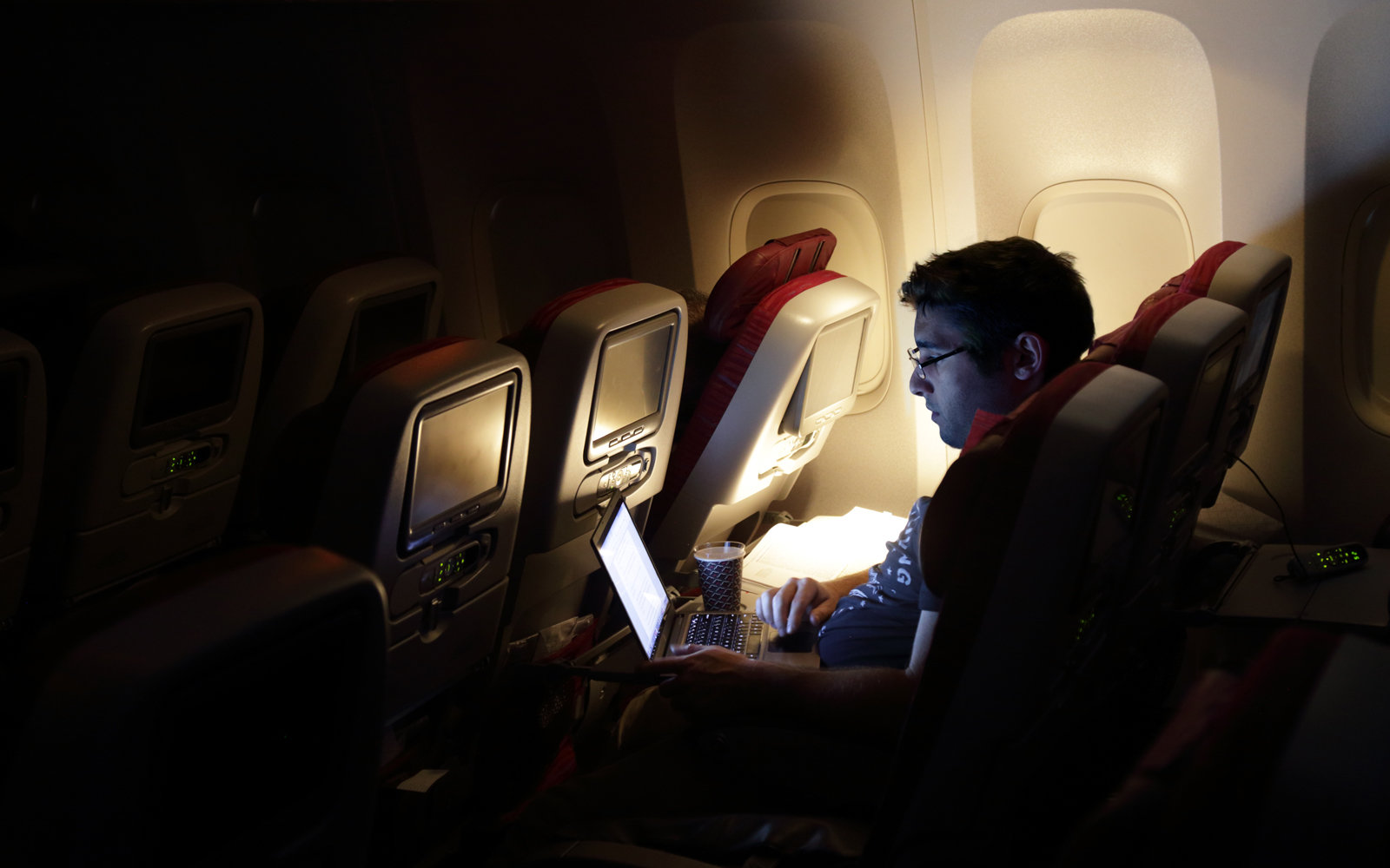 Laptop ban on planes.