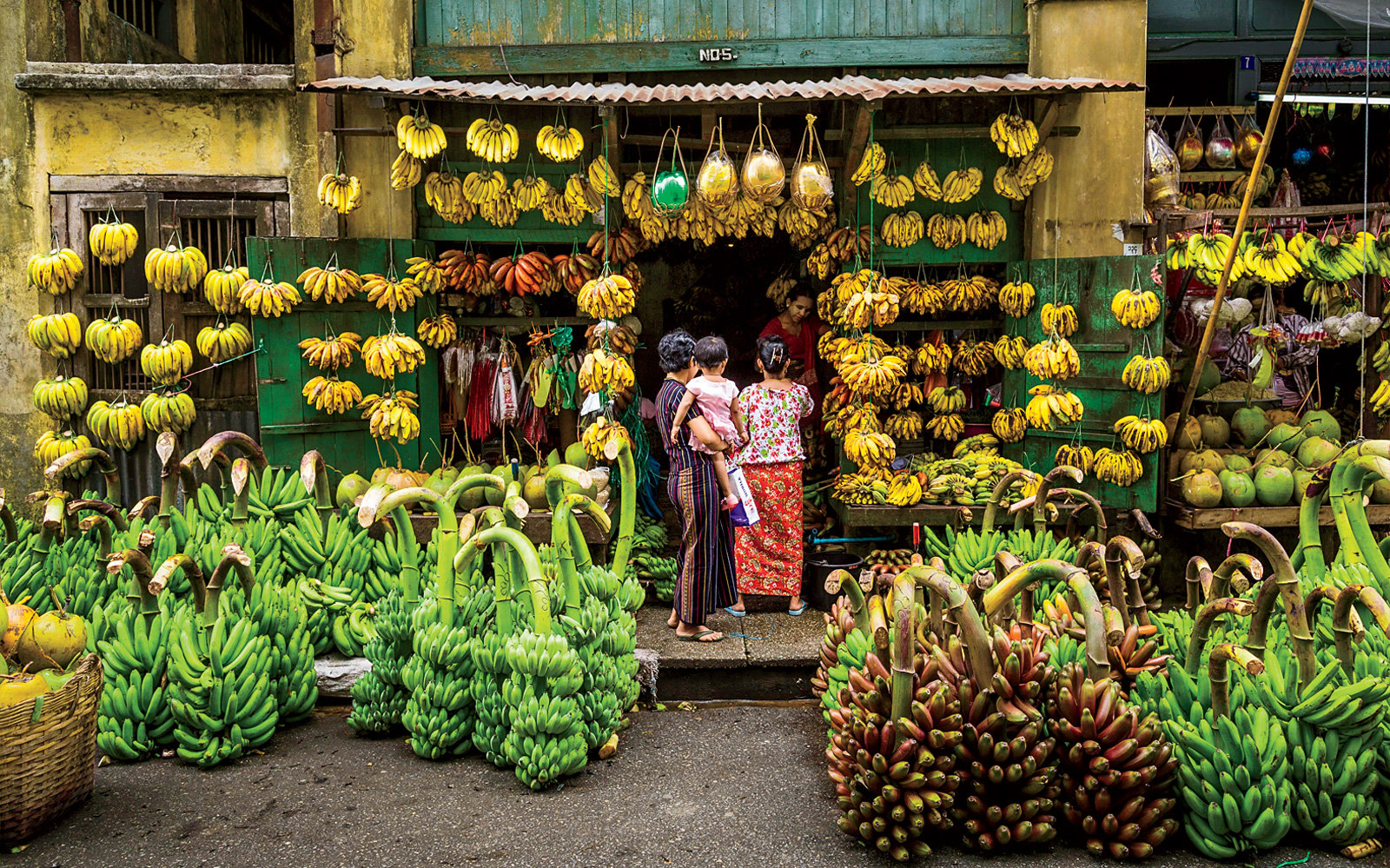 Fruit Stands in Burma