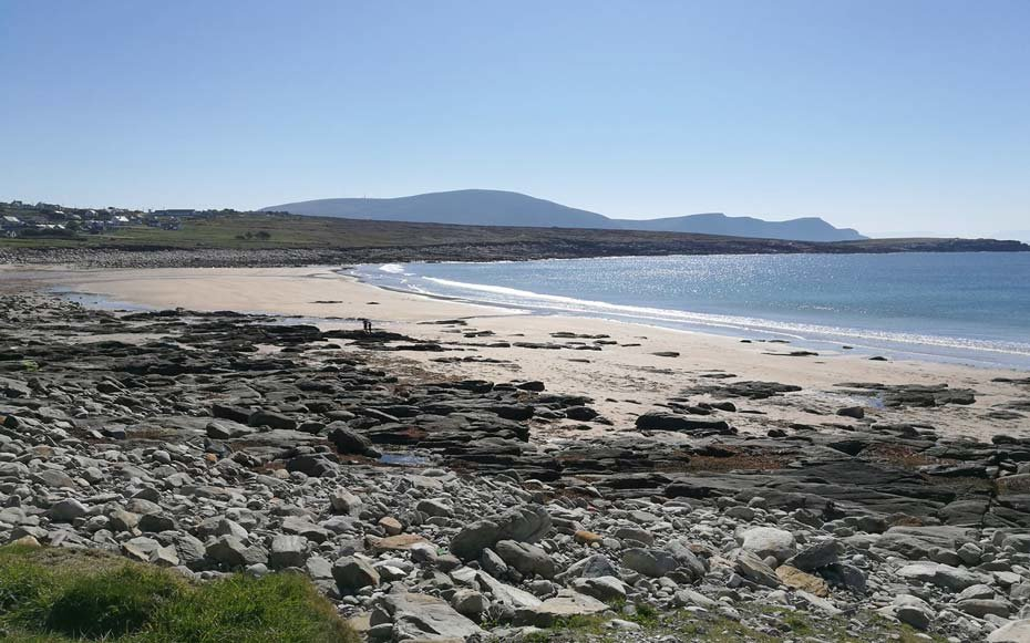 Beach reappears near Dooagh on Achill Island