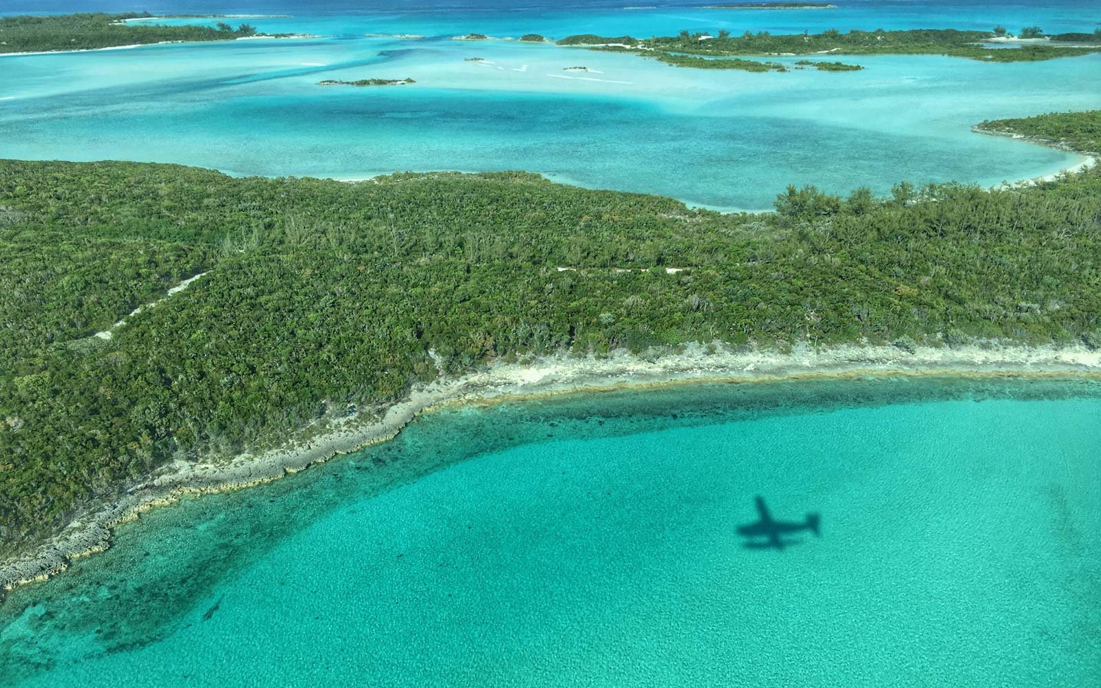 Aerial View of the Exumas