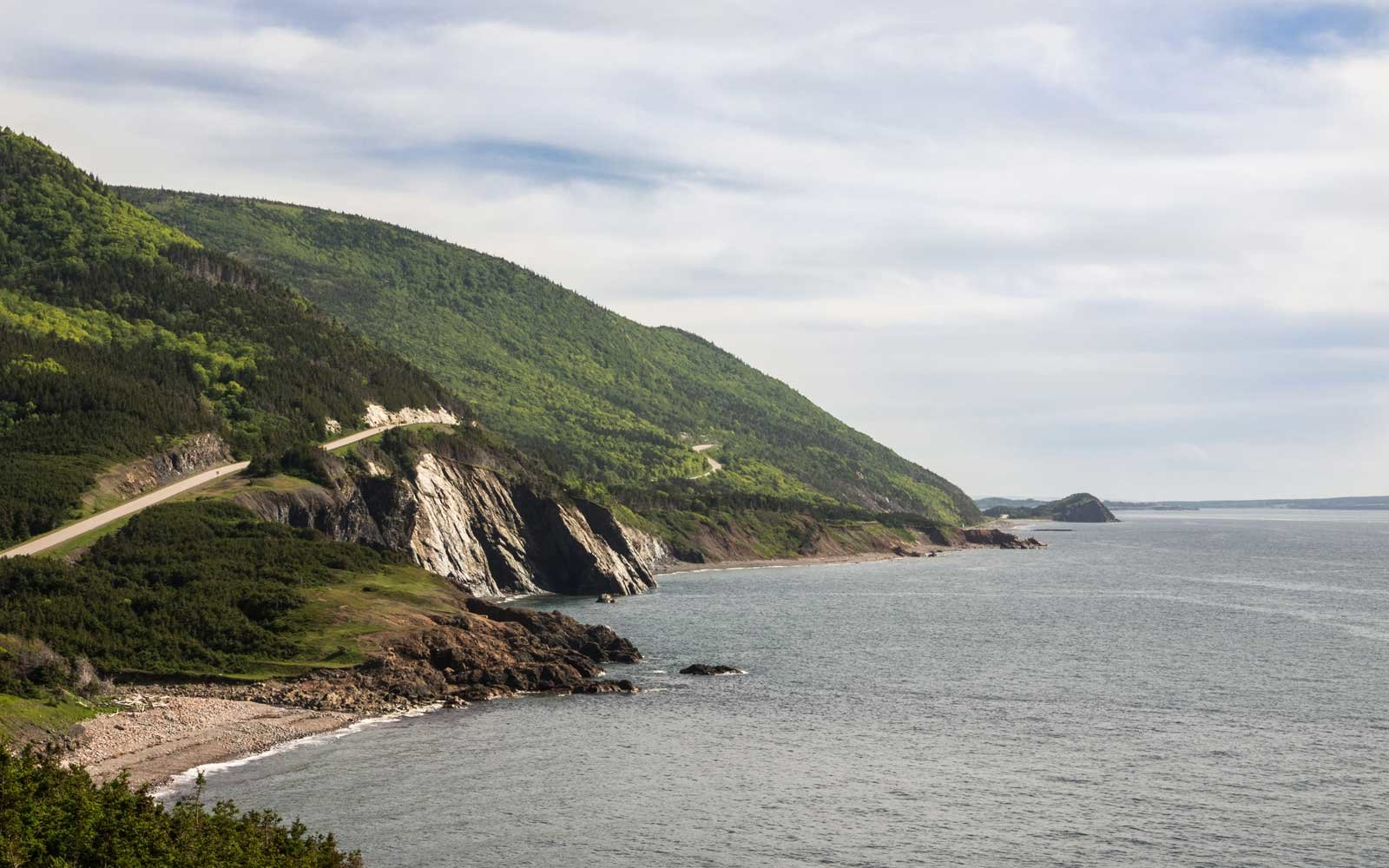 Cape Breton shoreline on the west coast of the island.