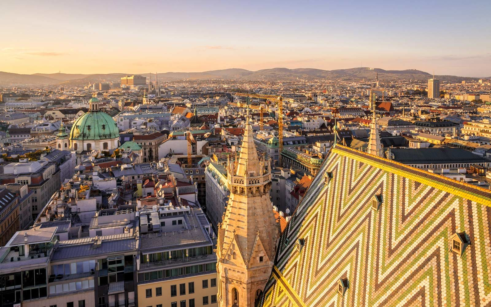 View from St Stephen's Cathedral, Vienna, Austria