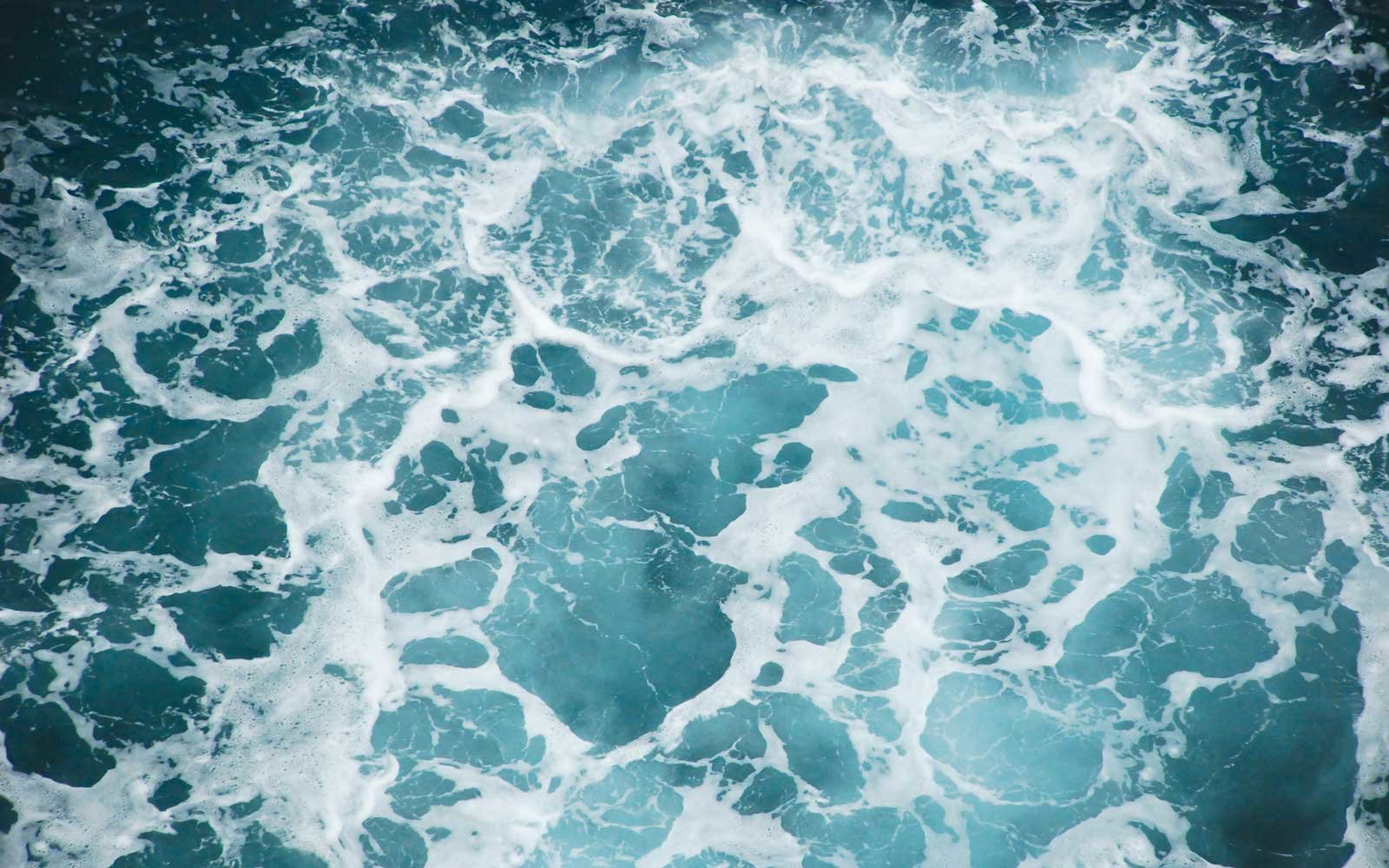Sea water splashes, view from above