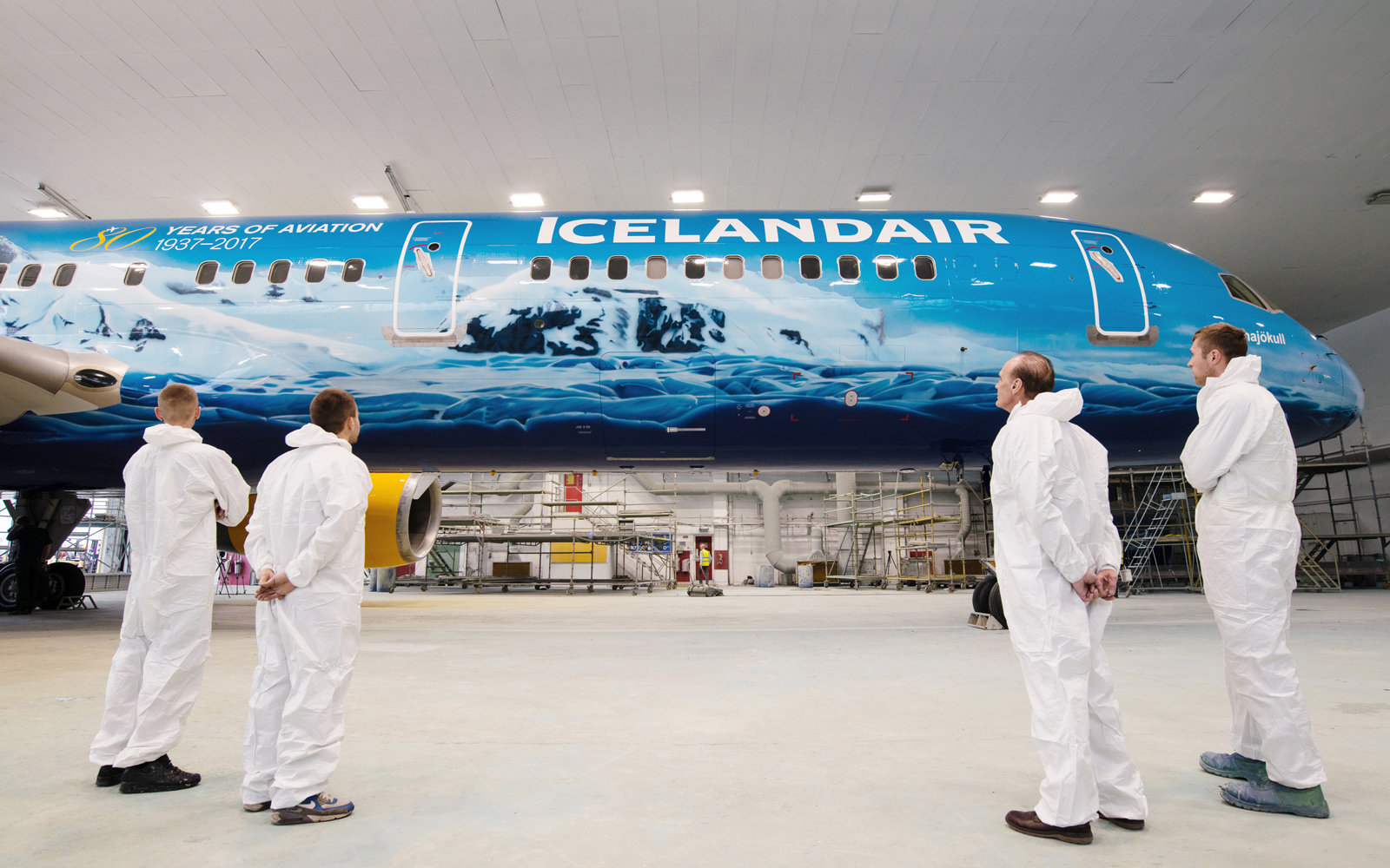 Image result for Icelandair Debuts a Northern Lights-Themed Plane