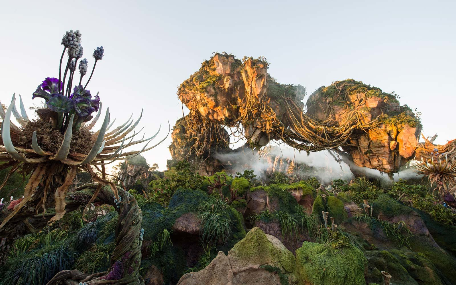 Floating rocks at the Pandora theme park