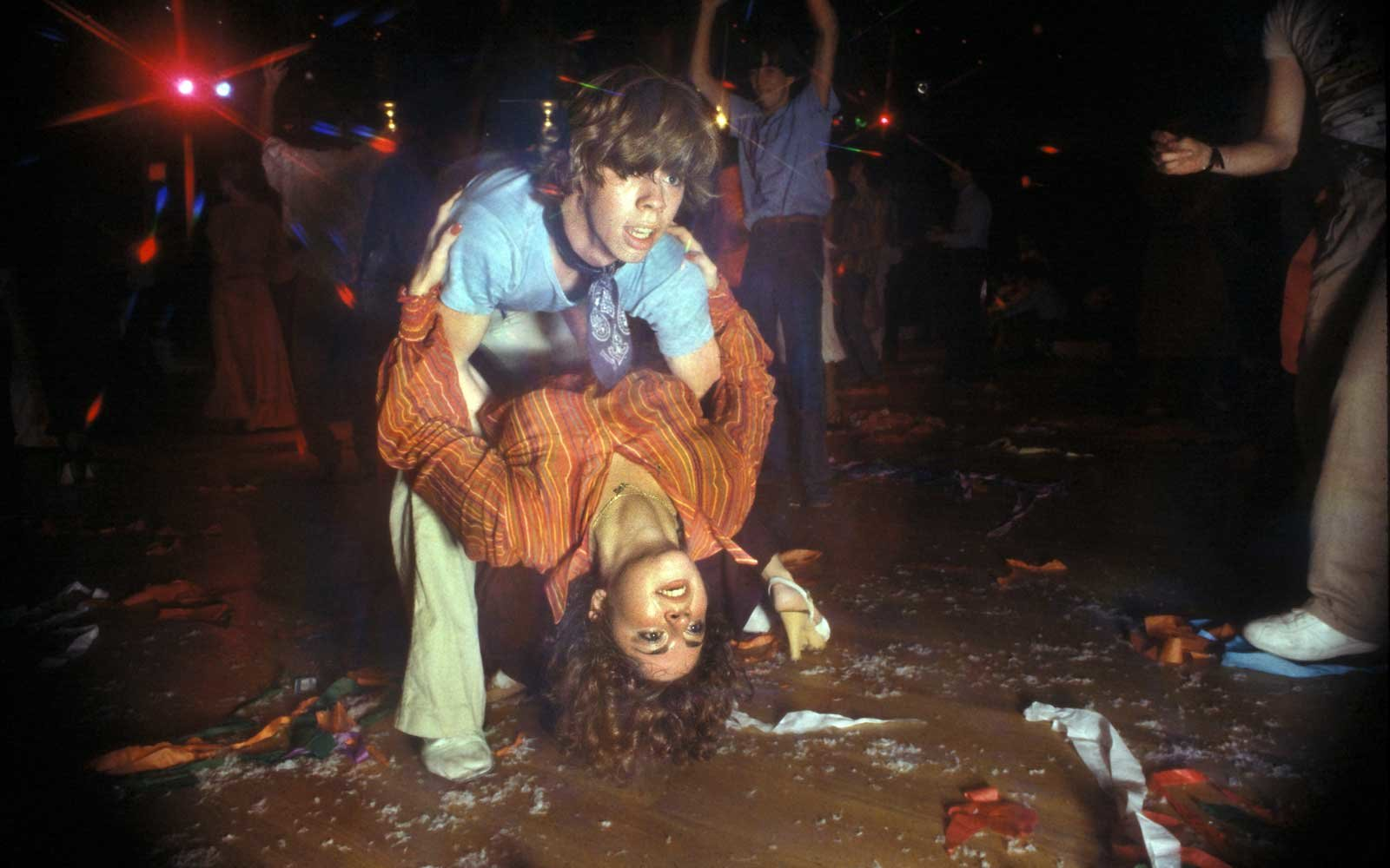 NEW YORK -1978: A couple dancing at the disco club FunHouse in 1978.