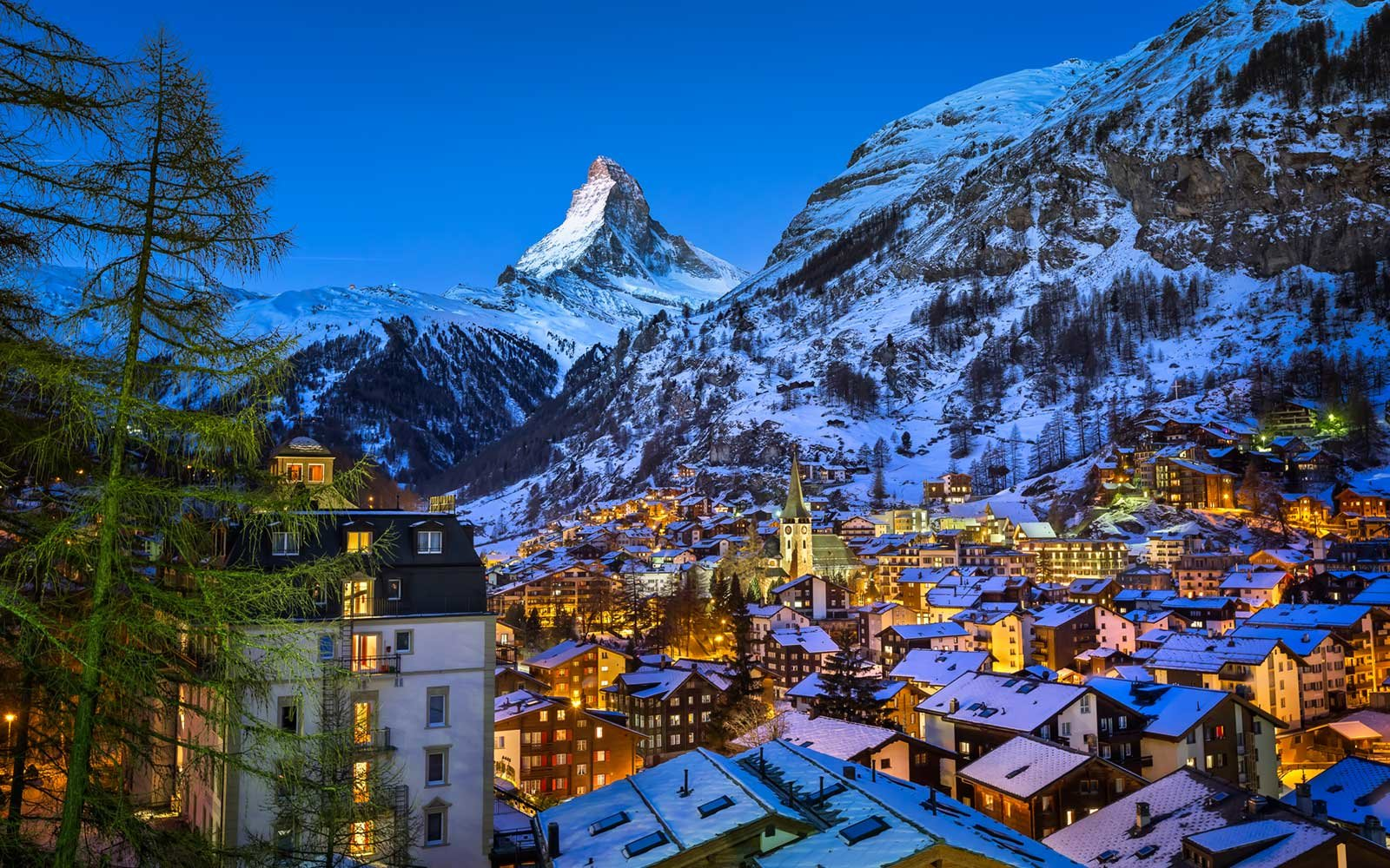 Zermatt Valley, Mount Matterhorn, Switzerland