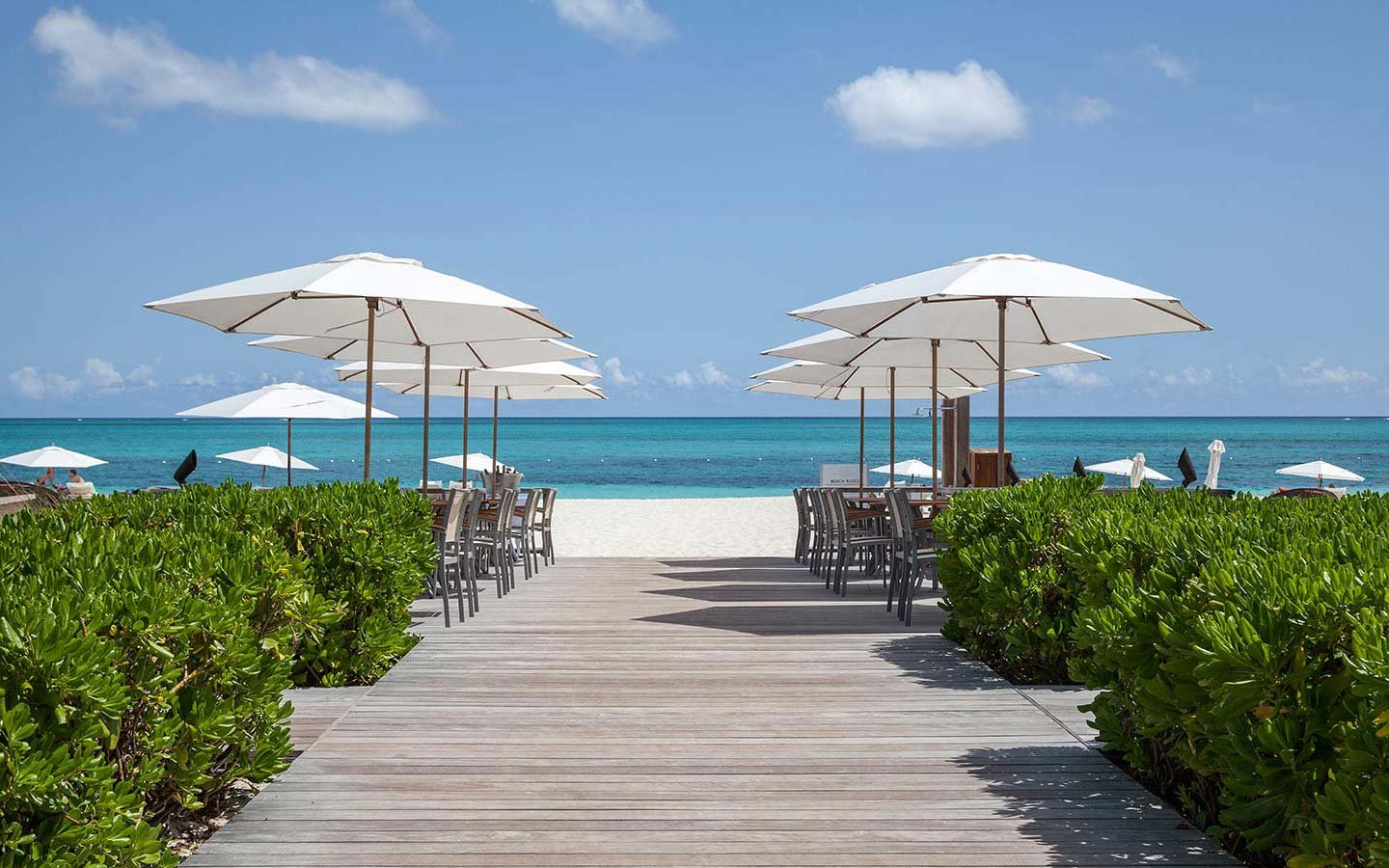 The boardwalk at The Gansevoort Turks and Caicos