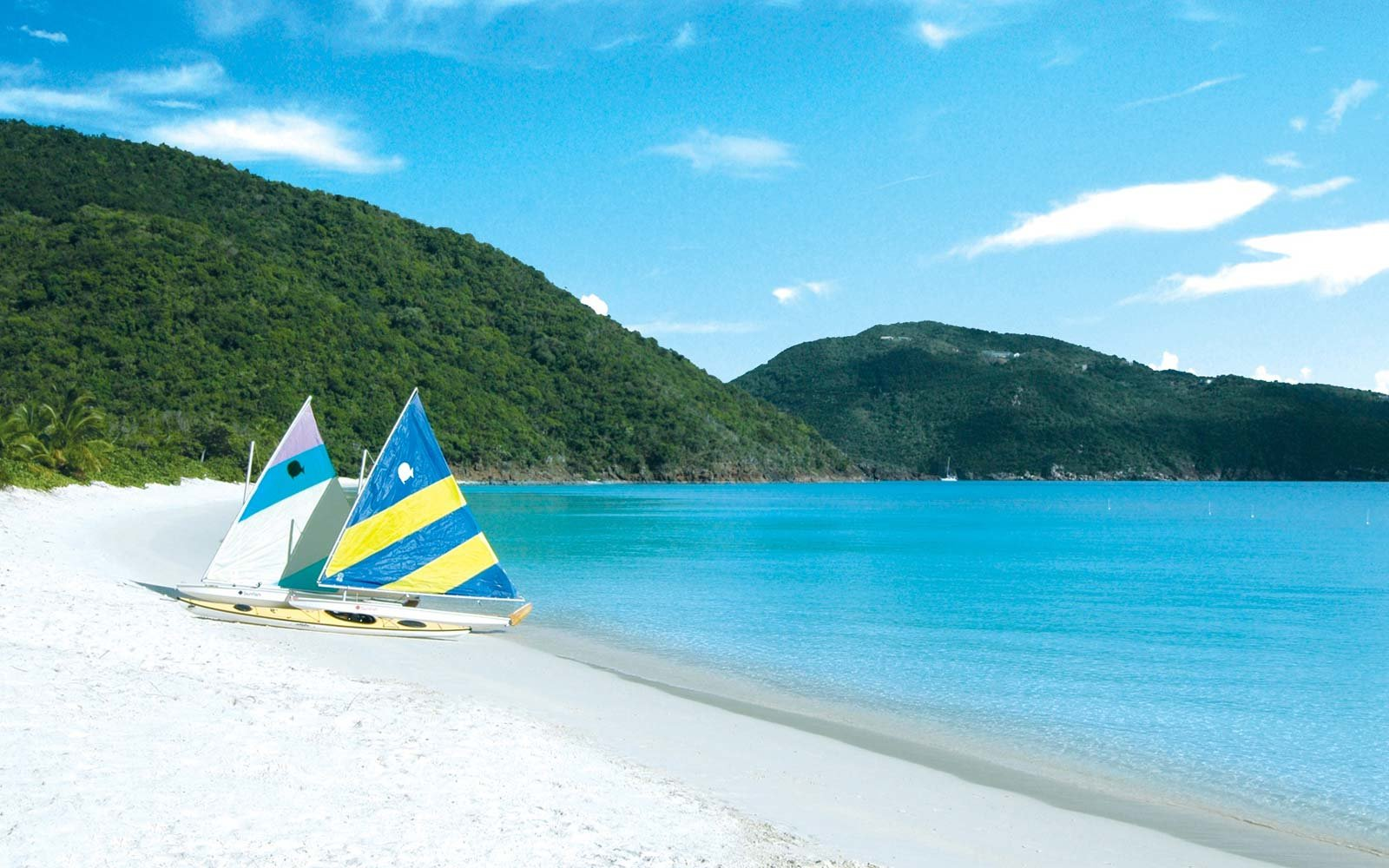 The beach at Guana Island