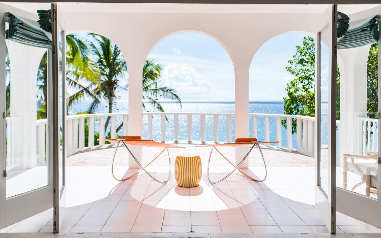 The veranda at Malliouhana in Anguilla