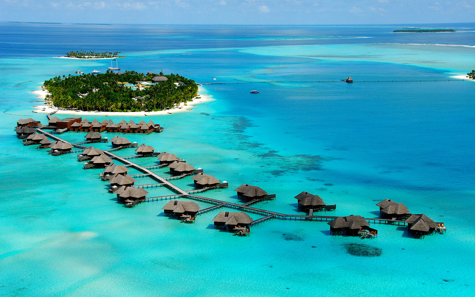 Maldives, South Ari Atoll, Rangali island, Hotel Resort & Spa Hilton.