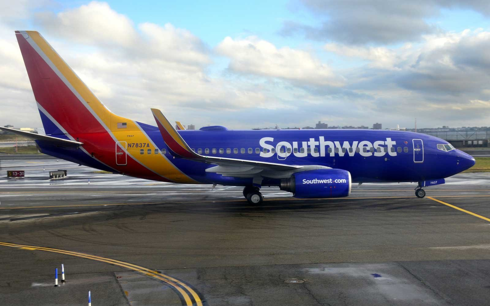 A Southwest Airlines Boeing 737 passenger