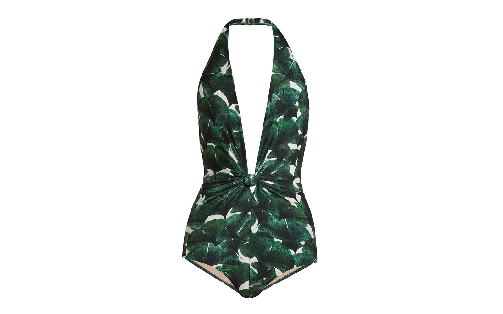 Palm floral swimsuit
