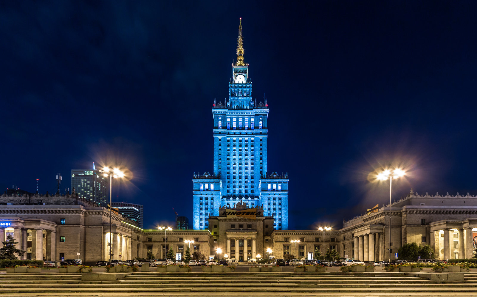 Warsaw at night.