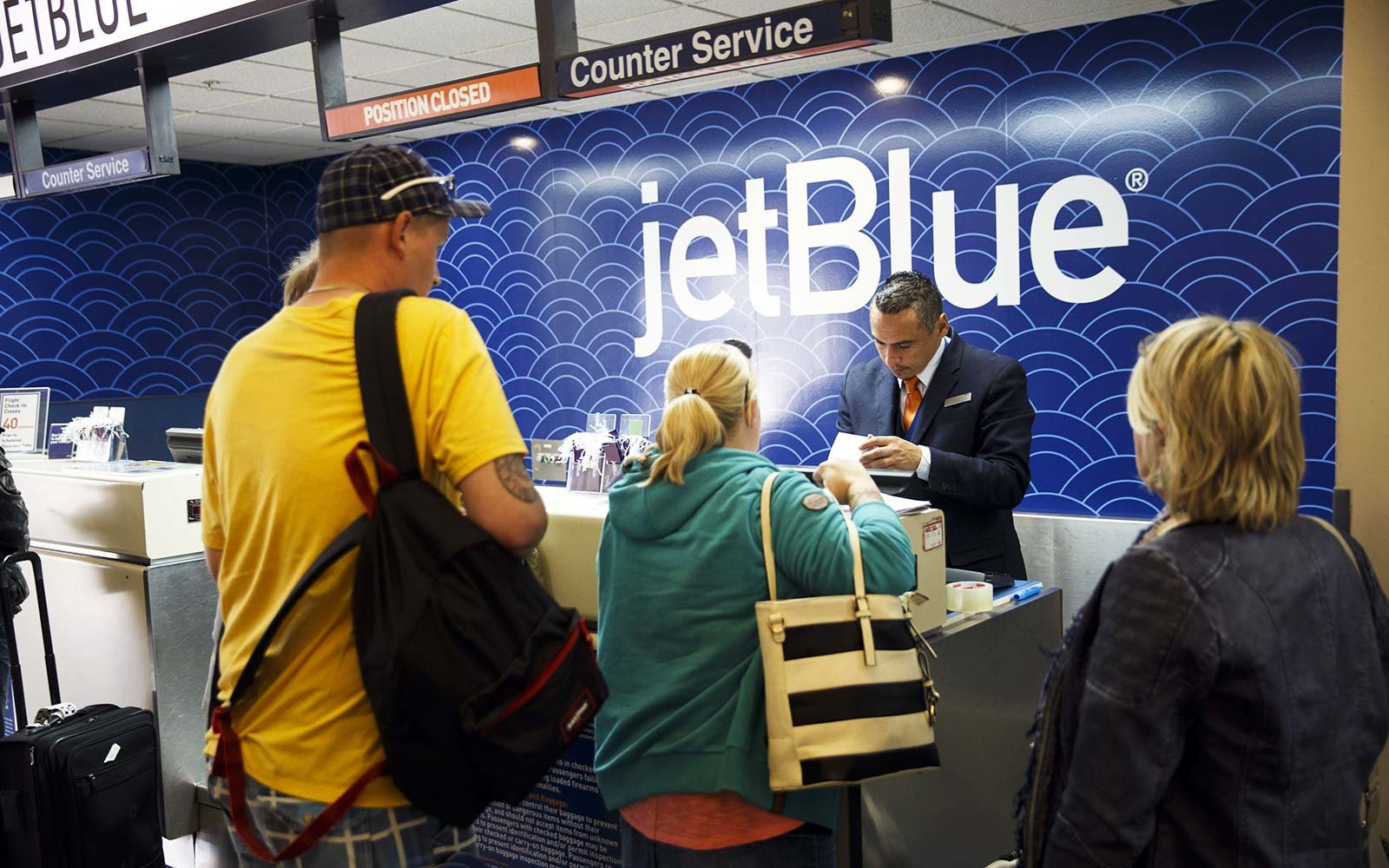 JetBlue Airways check-in counter airport