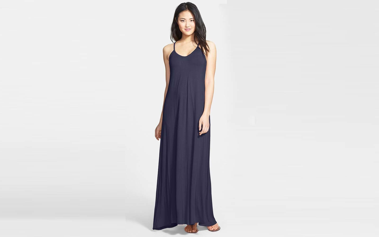 551b1443d29 Loveappella Maxi Dress in Midnight Blue