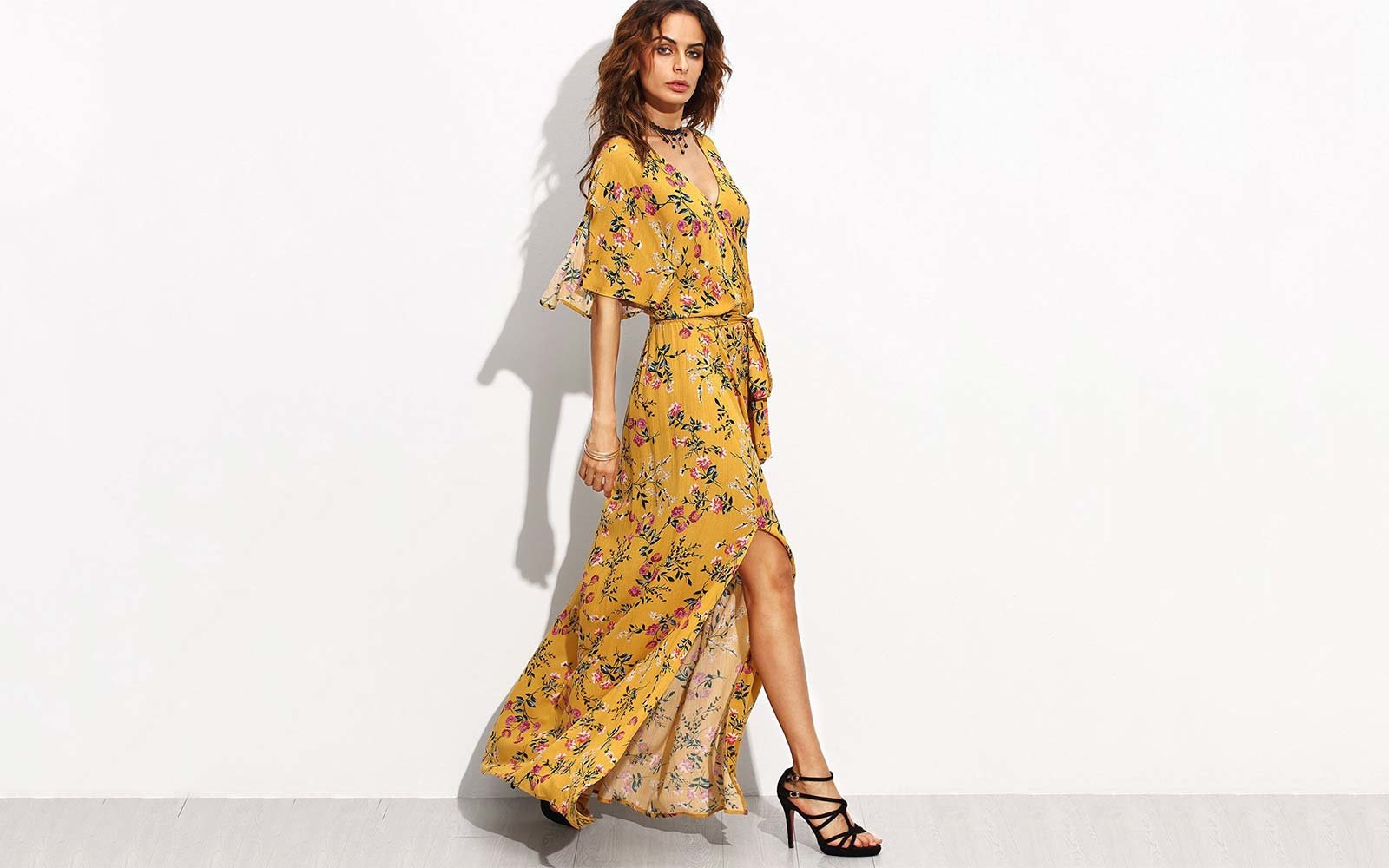 Sik Long Maxi Dresses with Long Sleeves