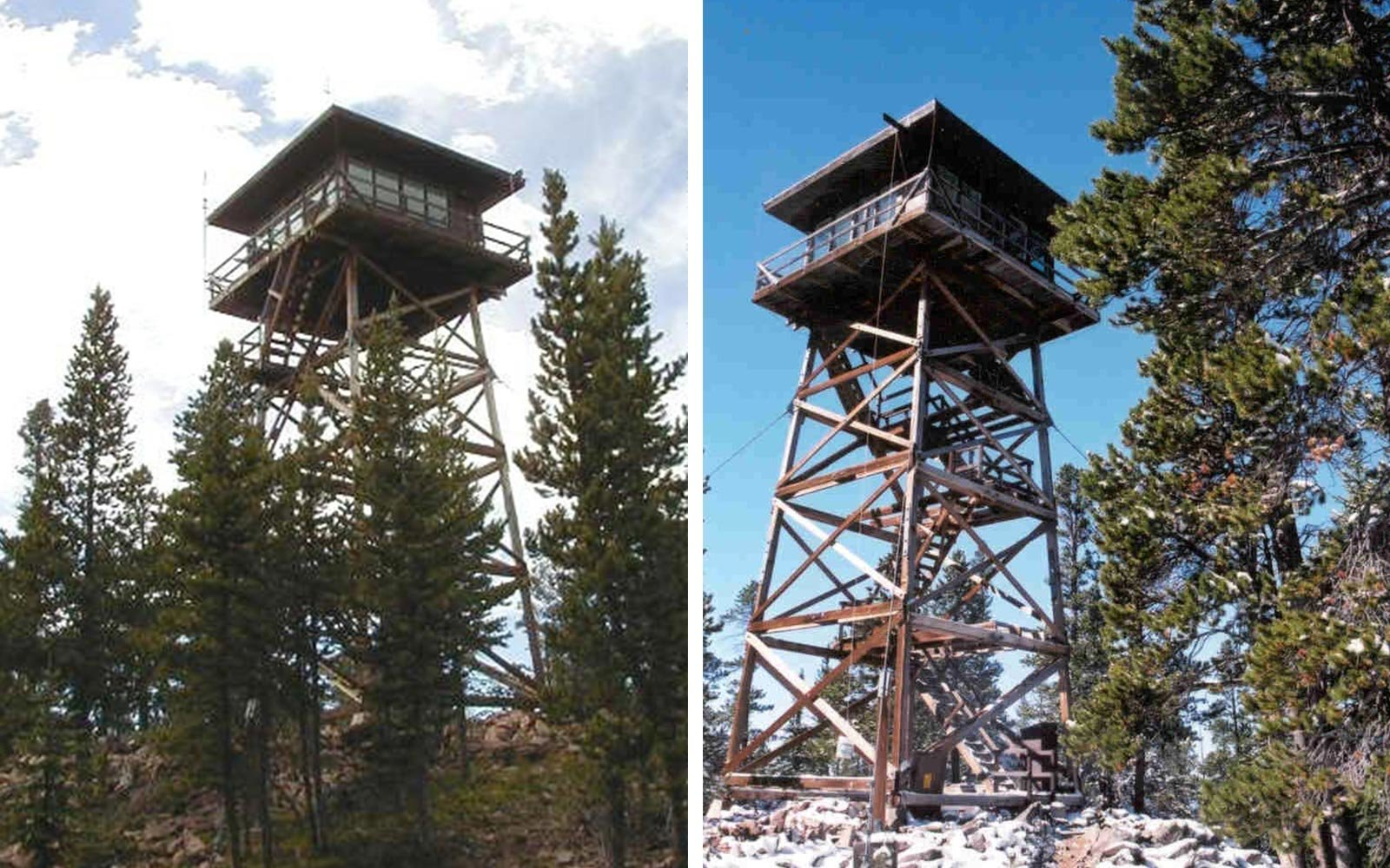Spruce Mountain Fire Lookout Tower, Wyoming