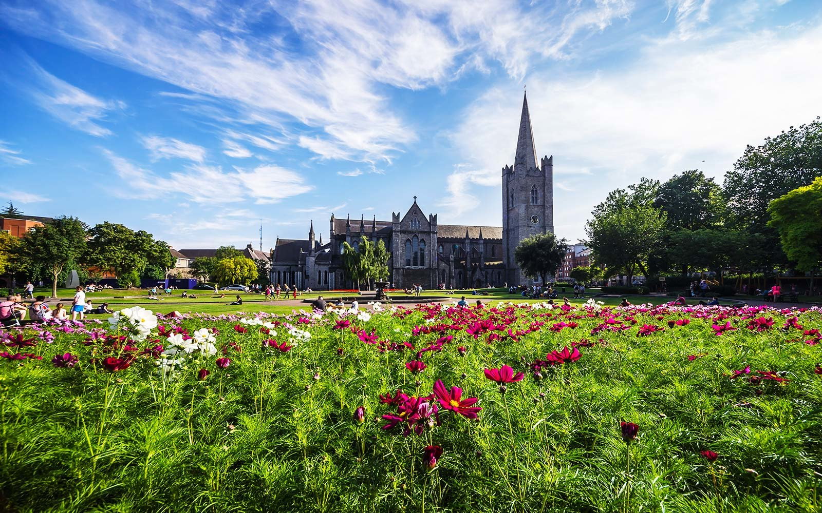 Ireland, County Dublin, Dublin, Wood Quay, St Patrick's Cathedral and St Patricks Park