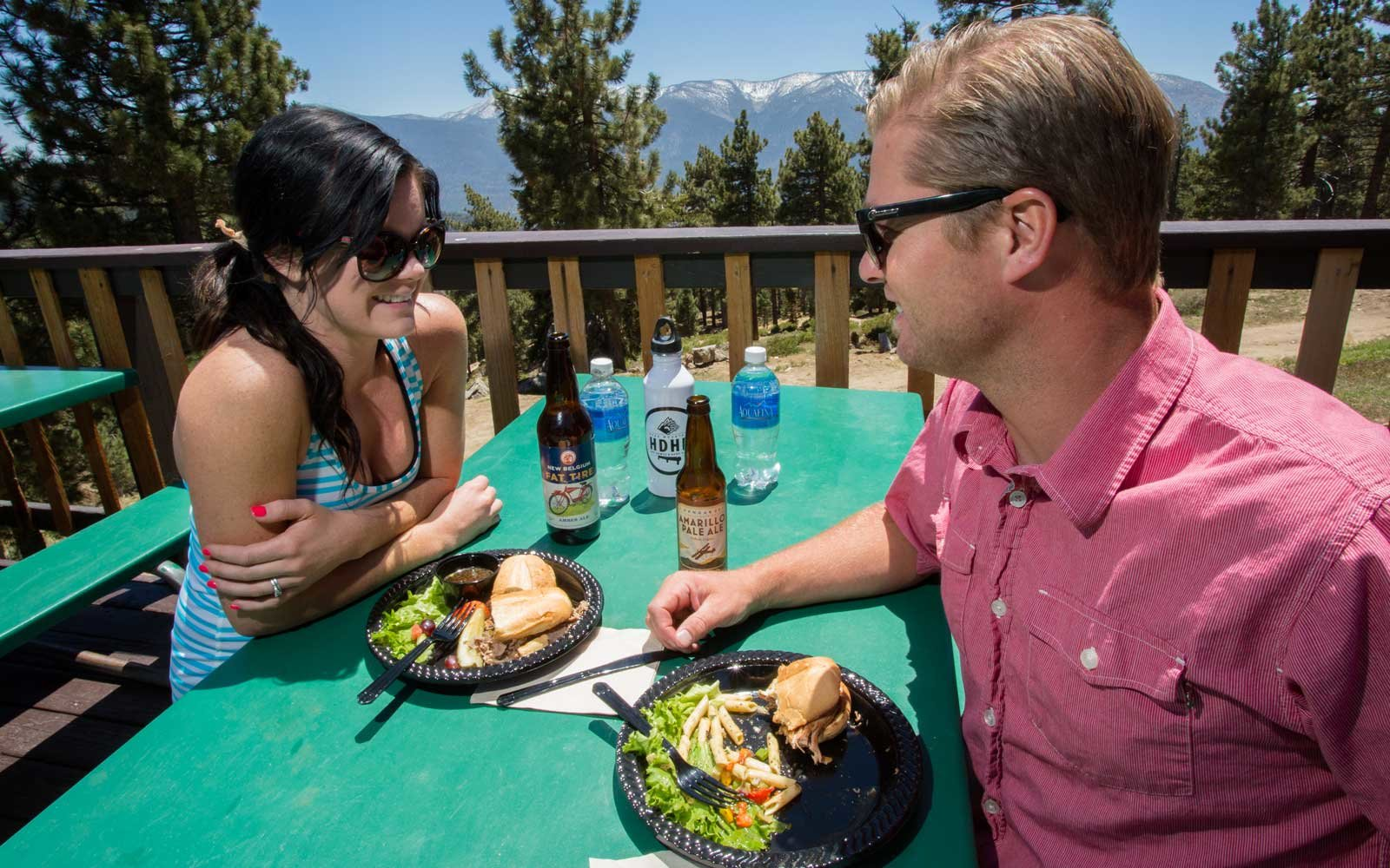 Dining at the ski mountains