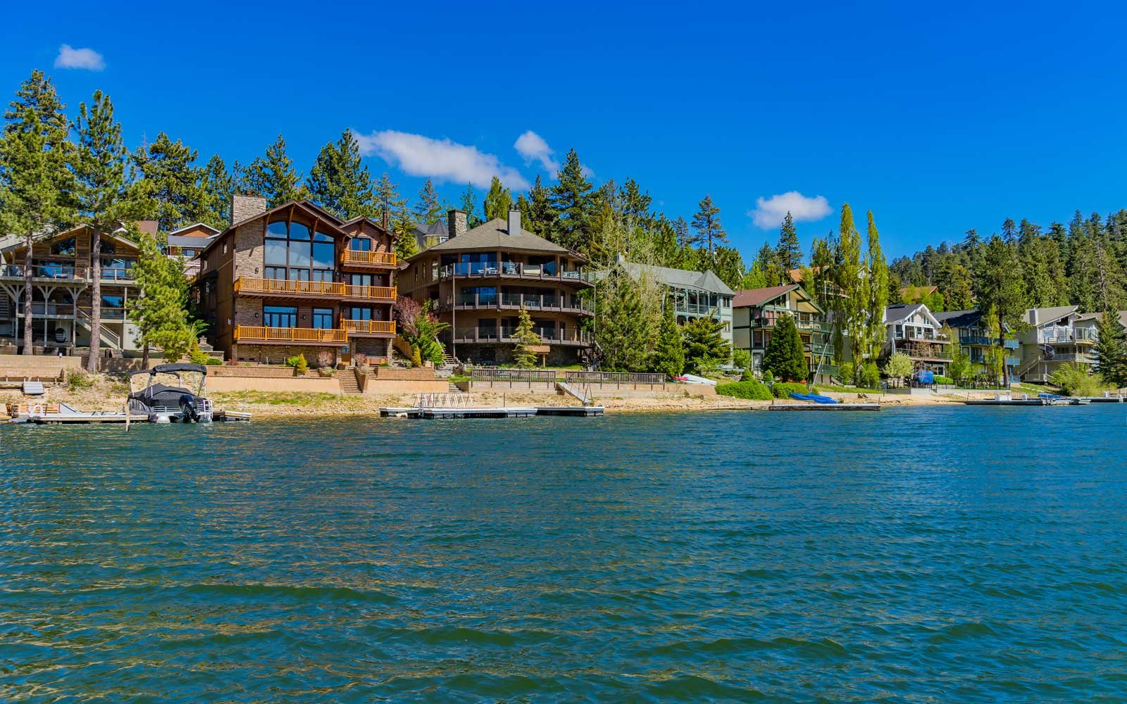 from estate homes real big lakefront bear lake for cabins deck sale search