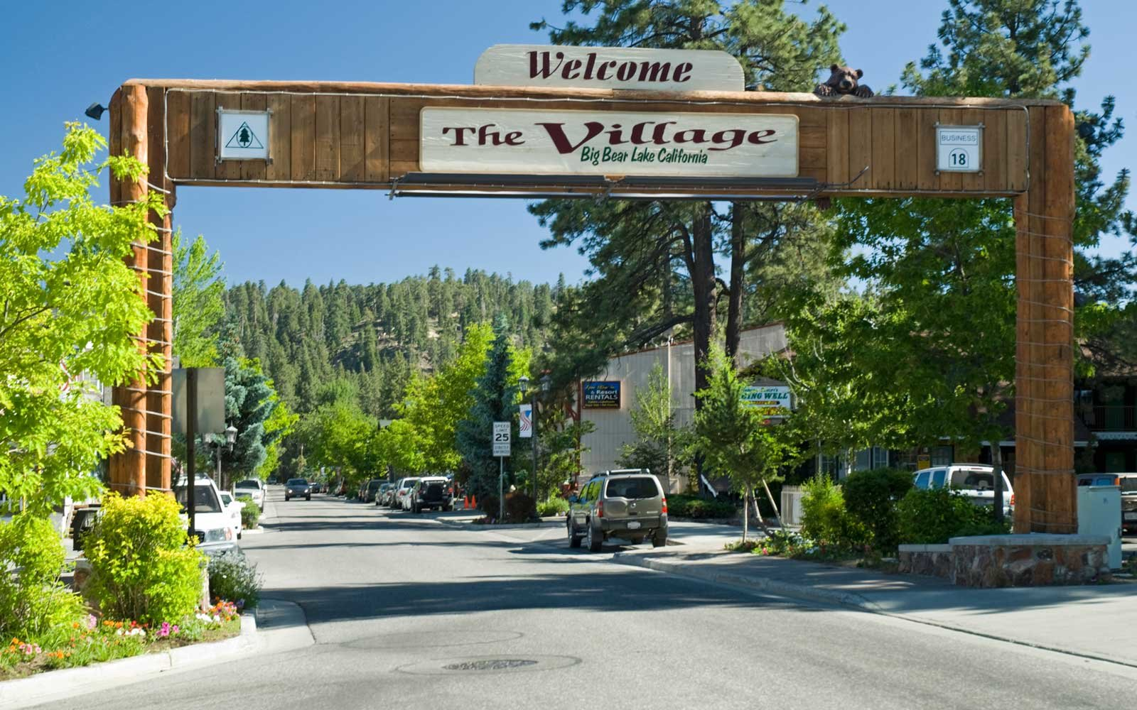 Shopping at The Village in Big Bear