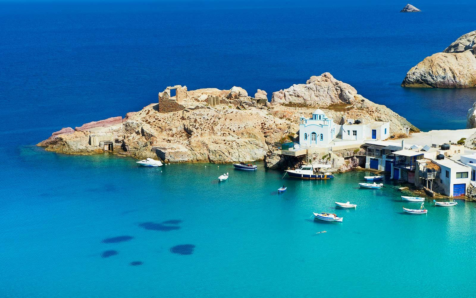 Firopotamos, Milos, Cyclades Islands, Greek Islands, Aegean Sea, Greece, Europe