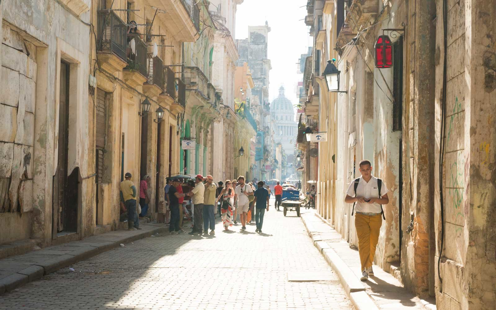On a sunny afternoon in Old Havana, Cuba