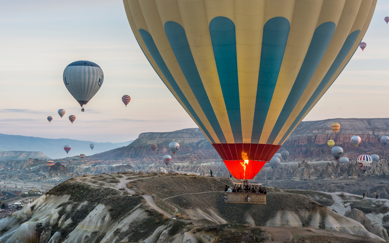 Hot Air Ballon, Close-up, Nevsehir, Cappadocia, Turkey
