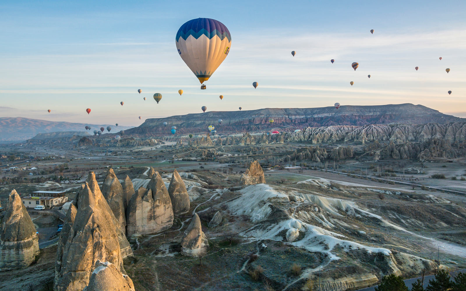 Hot Air Balloons, Dawn, Cappadocia, Turkey