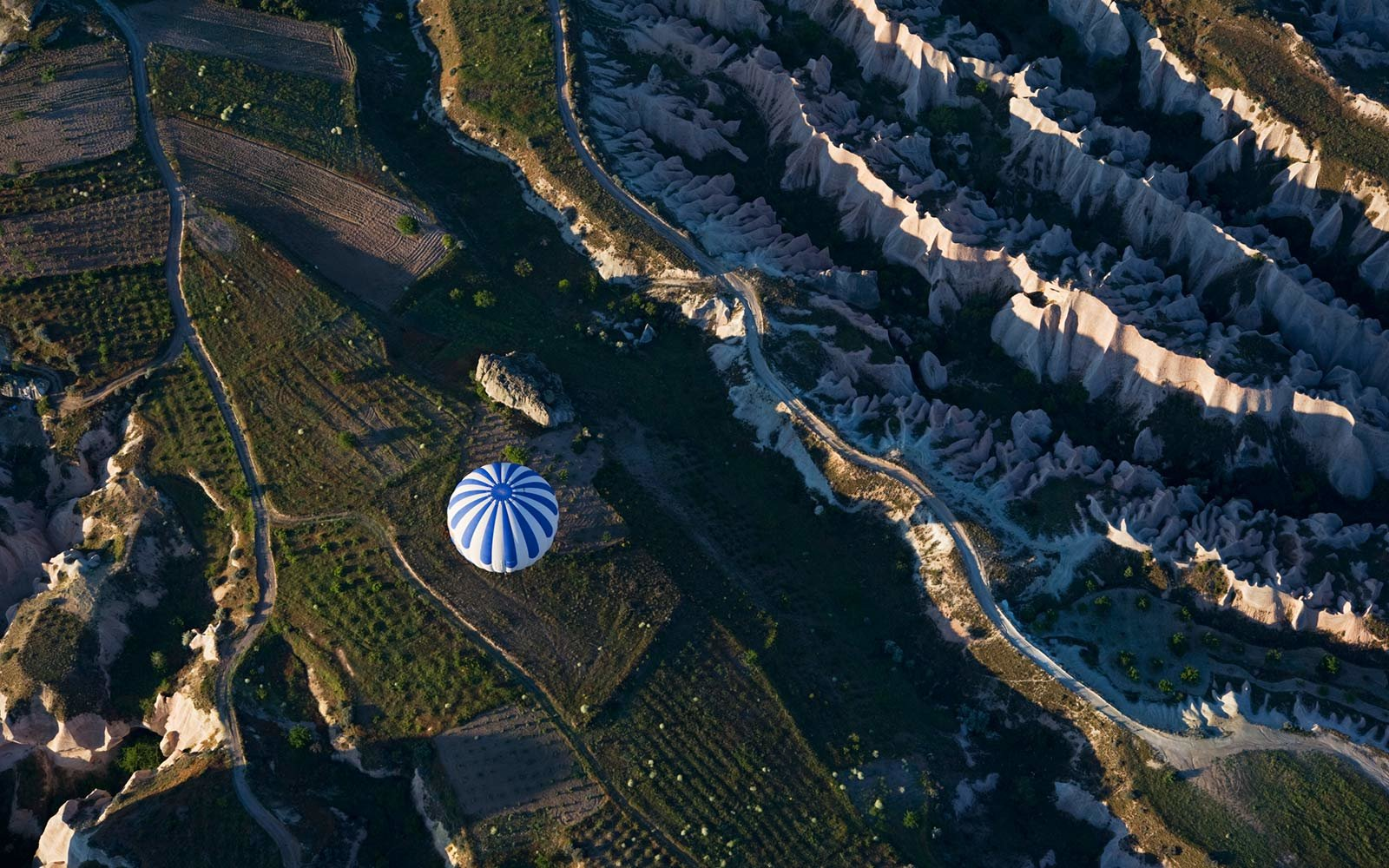 Hot Air Ballon, Aerial, Cappadocia, Turkey