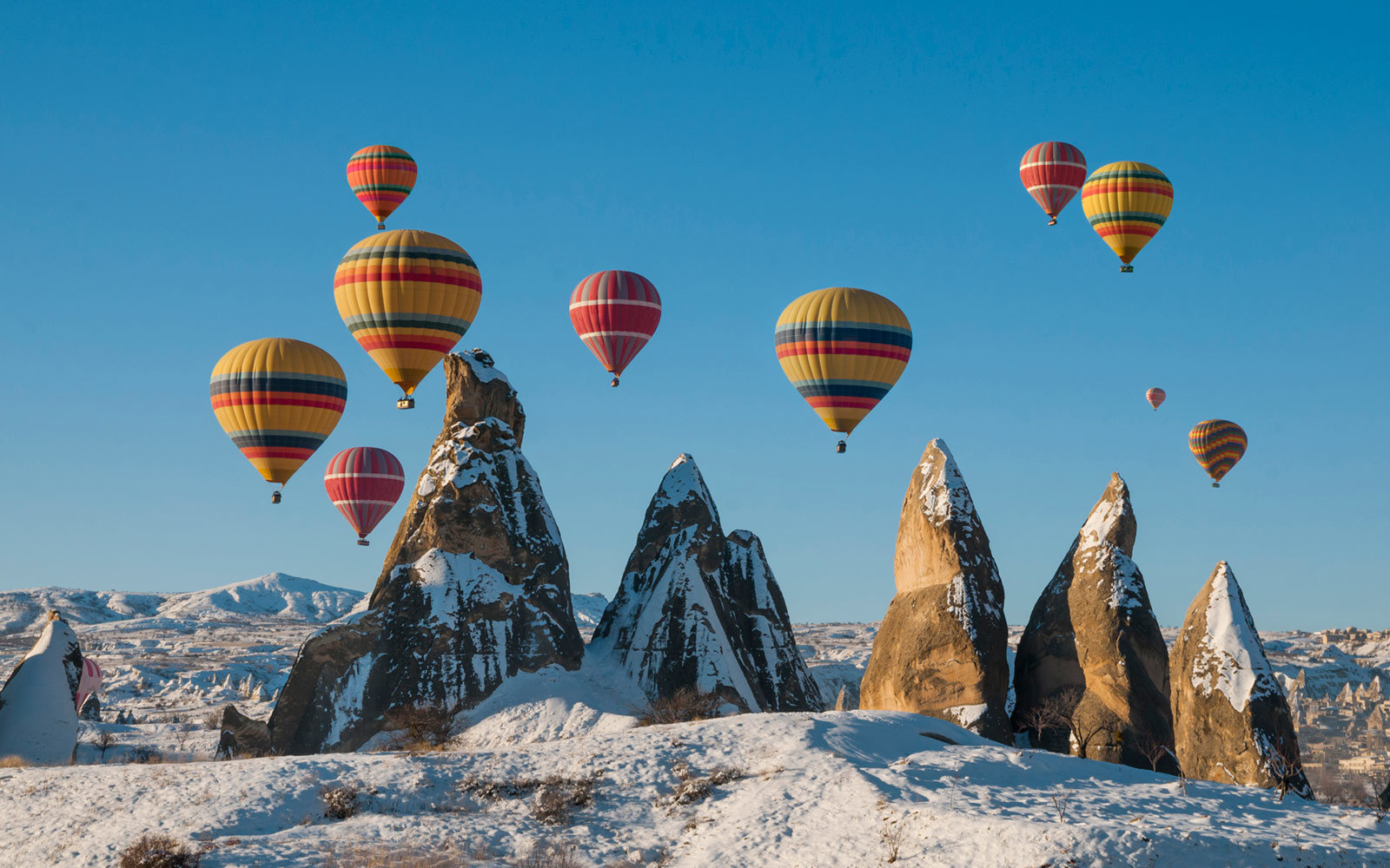 Hot Air Balloon, Nevsehir, Central Anatolia, Cappadocia, Turkey