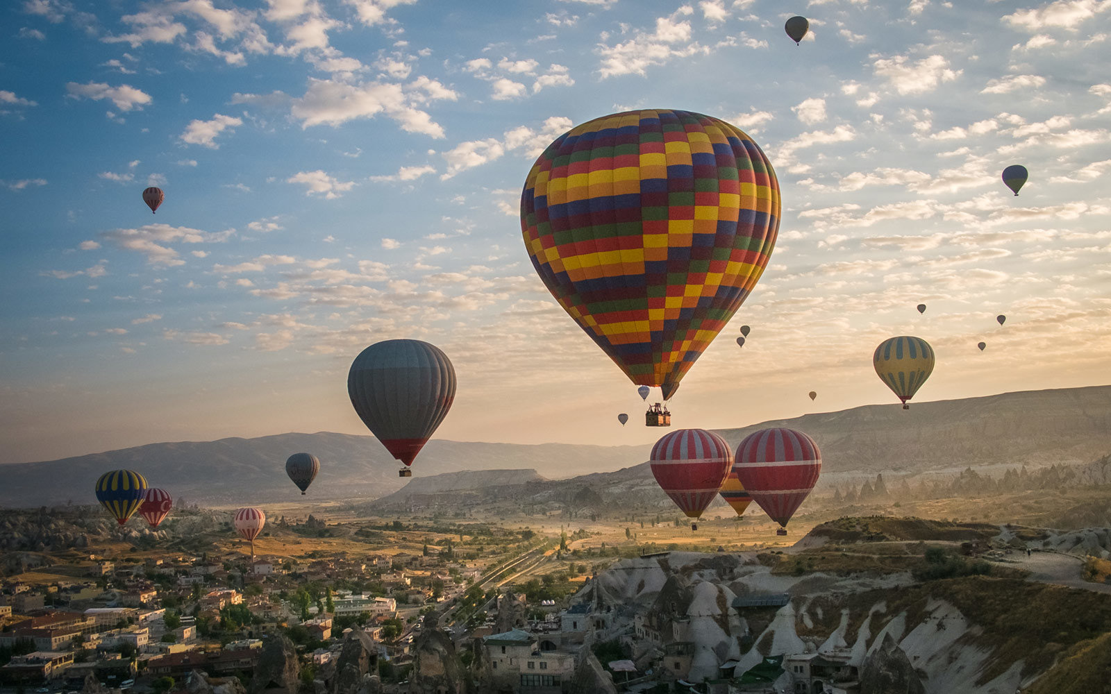 Hot Air Balloons, Over Cappadocia, Turkey