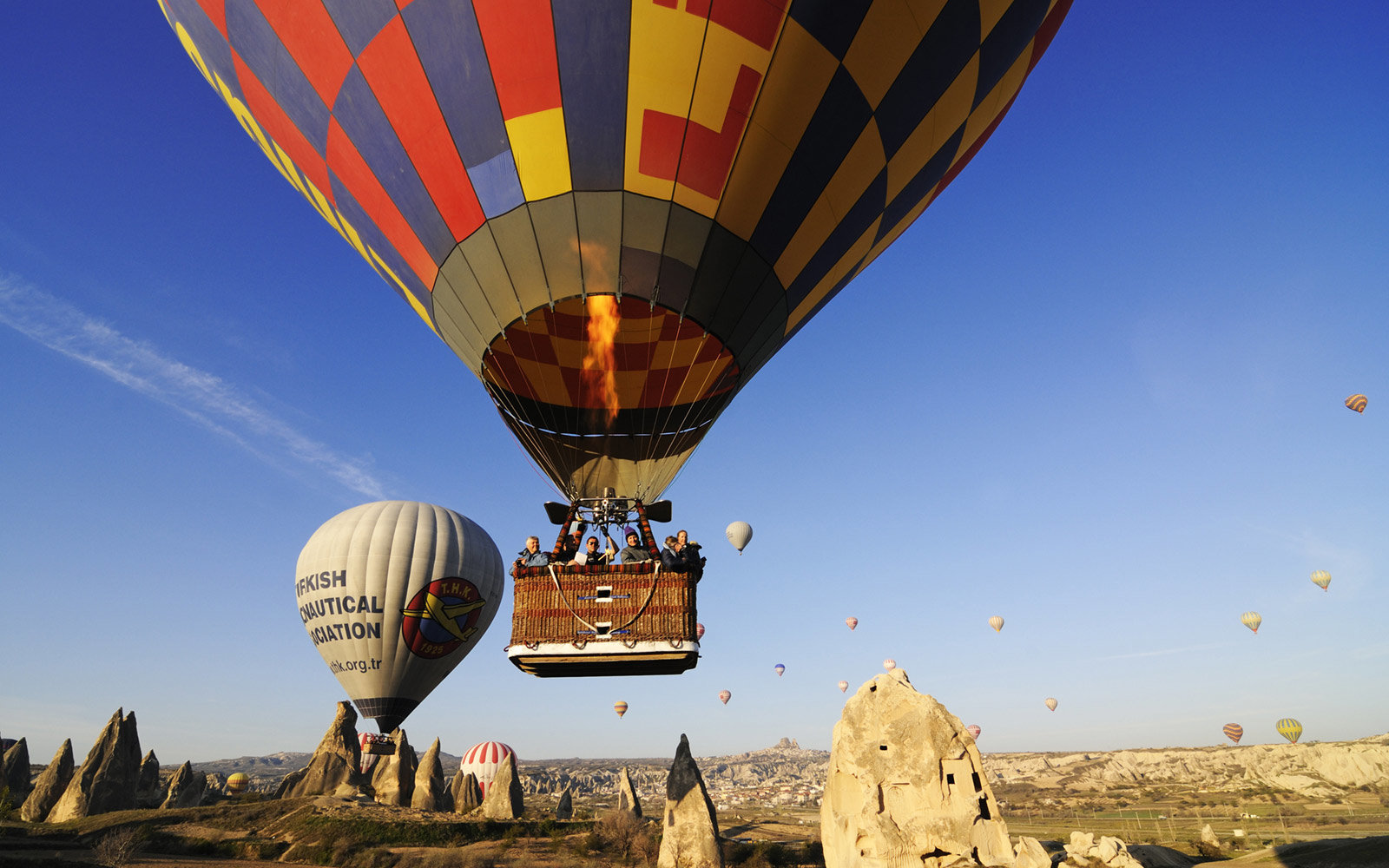 Hot Air Balloons, Goreme Valley, Cappadocia Turkey
