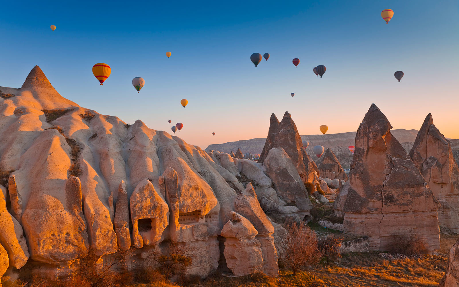 Hot Air Balloons, Goreme Valley, Cappadocia, Turkey