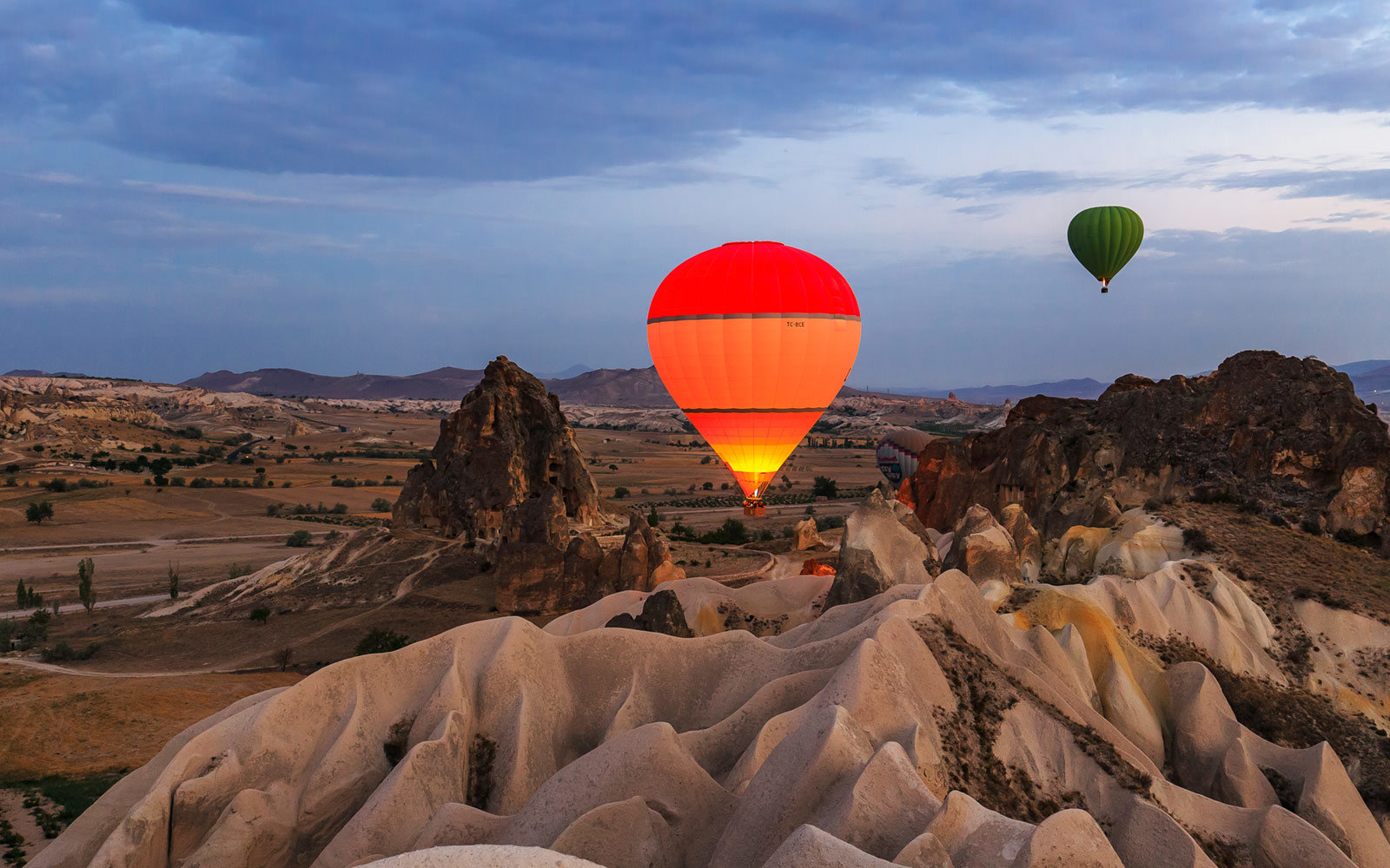 flying in a air balloon in cappadocia should be on your bucket