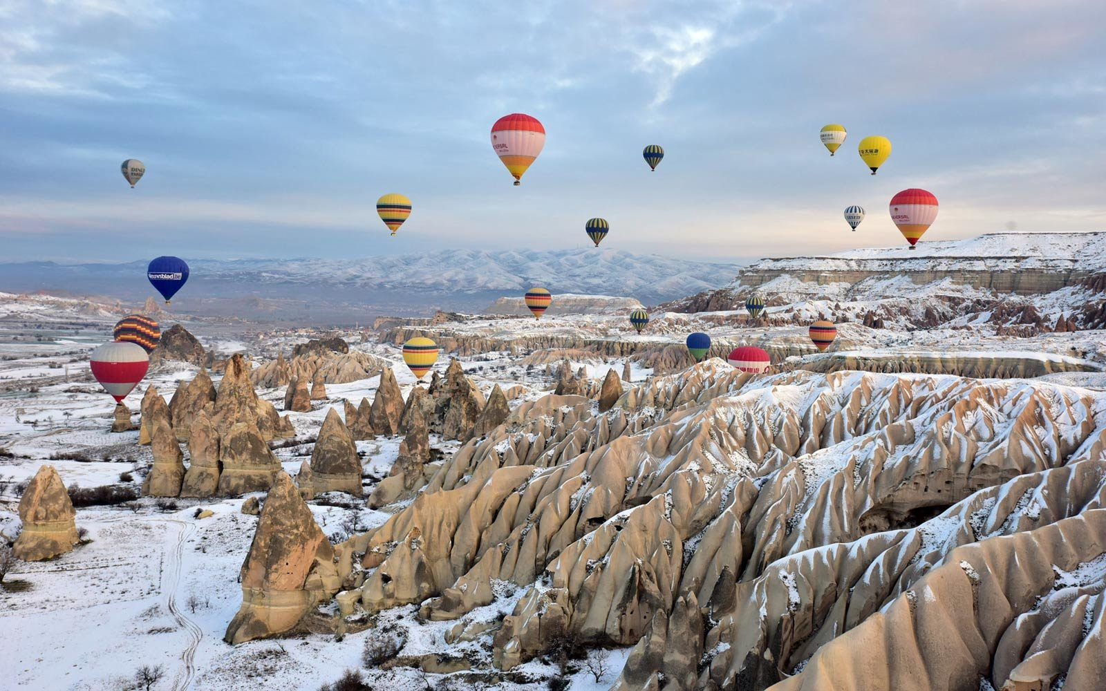 Hot Air Balloons, Winter Cappadocia, Turkey