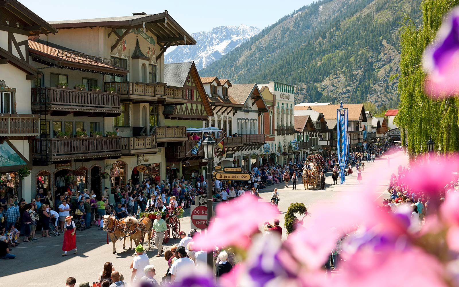 Bavarian-style town of Leavenworth Washington