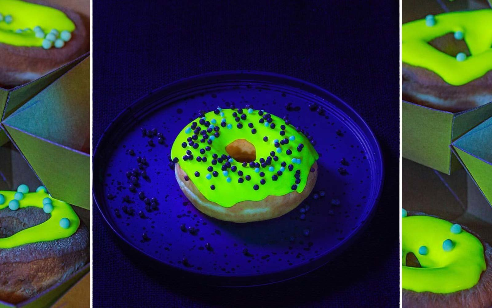 Glow in the dark donuts