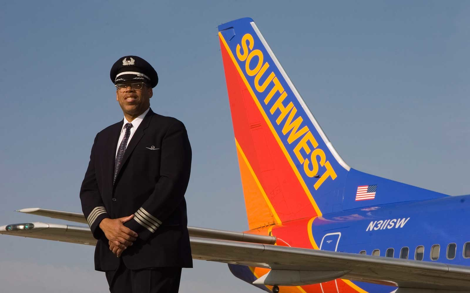 Southwest Airlines Captain Lou Freeman Retirement