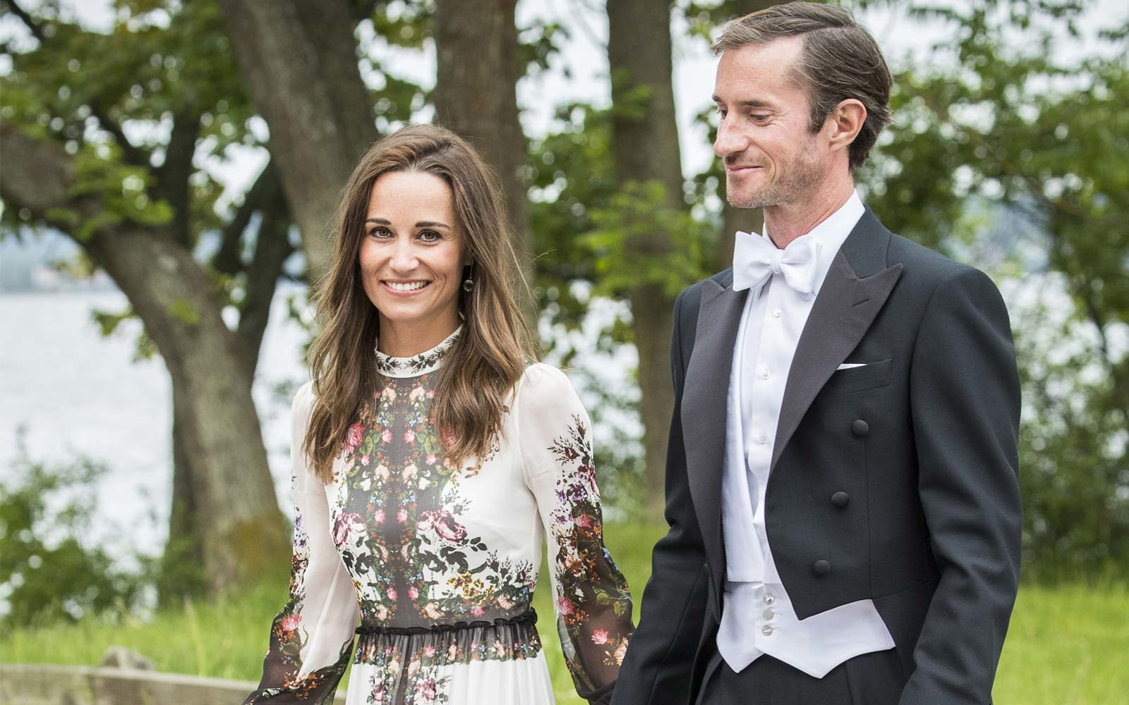 Pippa Middleton at wedding in Sweden