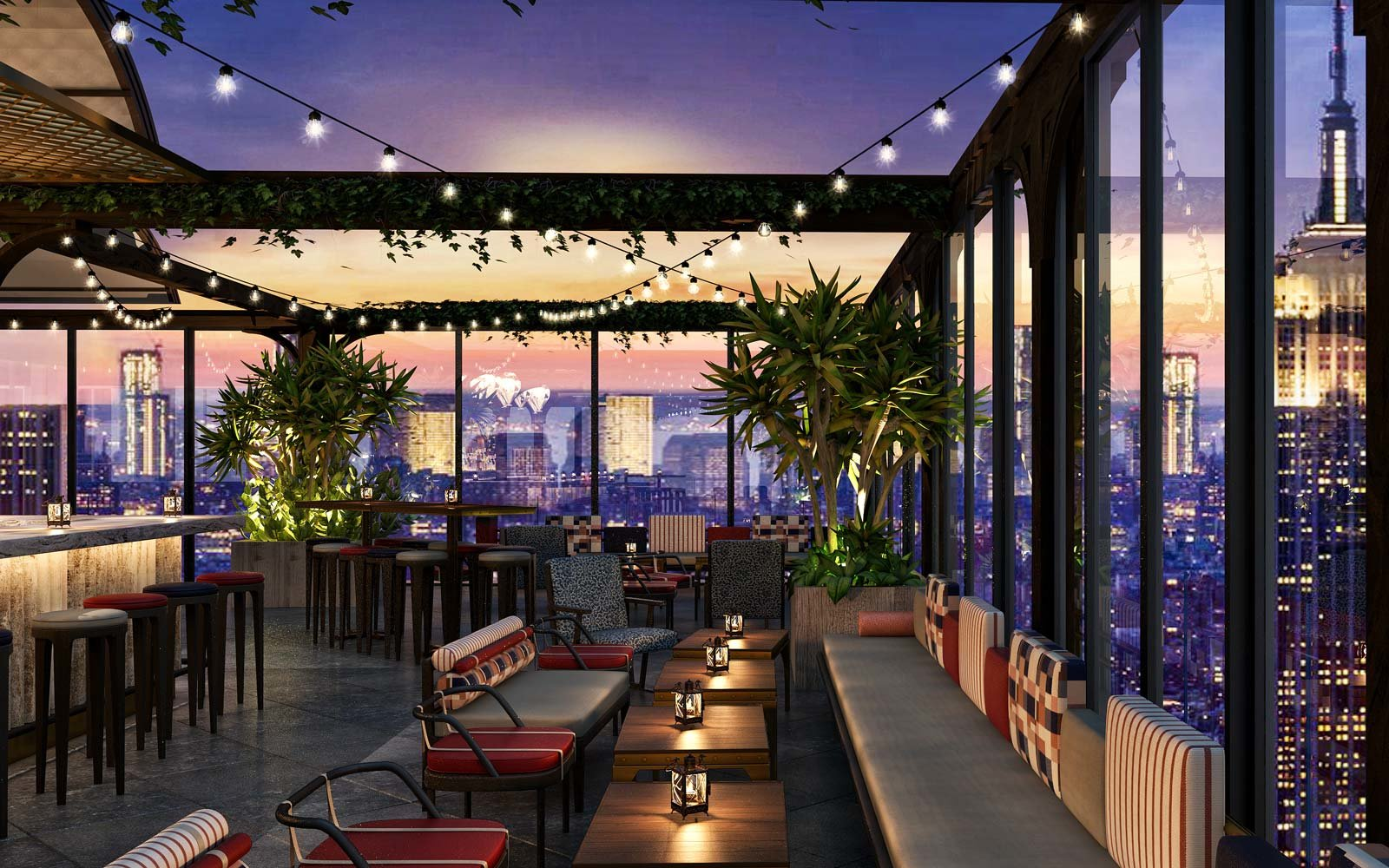 New york city 39 s largest rooftop bar is about to open for Sky design hotel