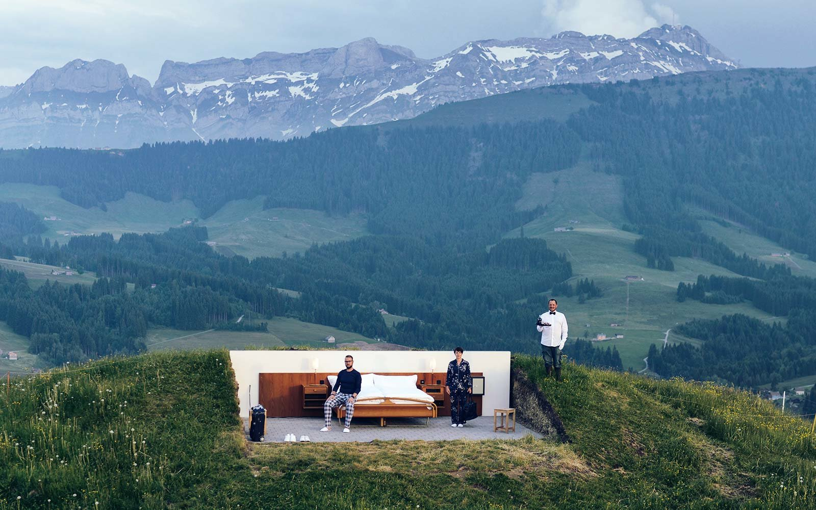 this swiss hotel has no walls and no roof but a great view travel leisure. Black Bedroom Furniture Sets. Home Design Ideas