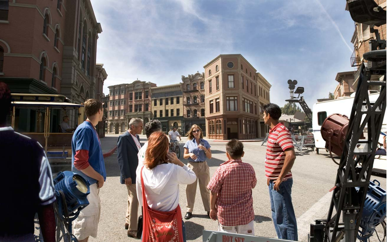 the backlot at Universal Studios