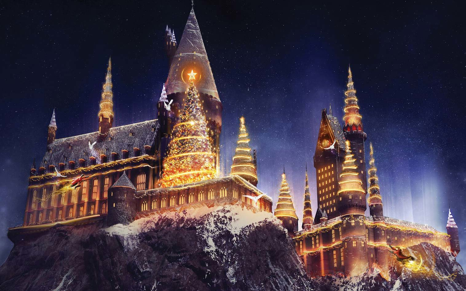 Christmas at Wizarding World of Harry Potter