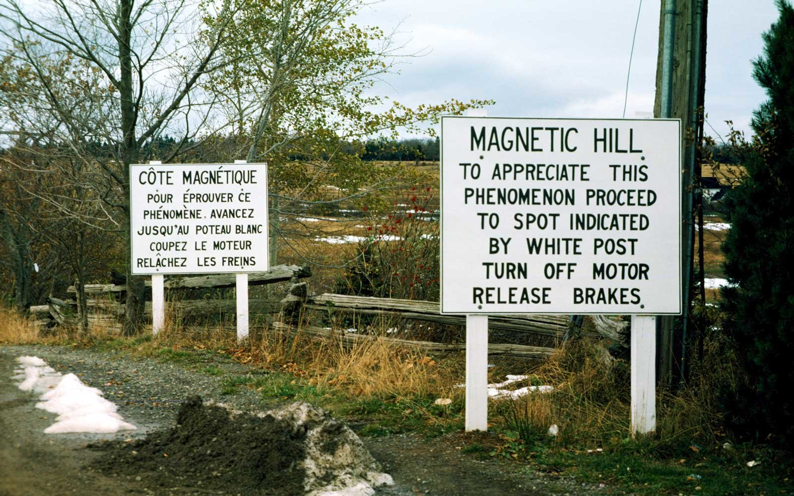 Gravity Hill in Canada