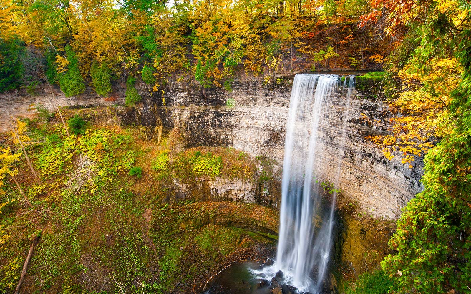 waterfalls in Webster's fall park, Hamilton, Ontario, Canada